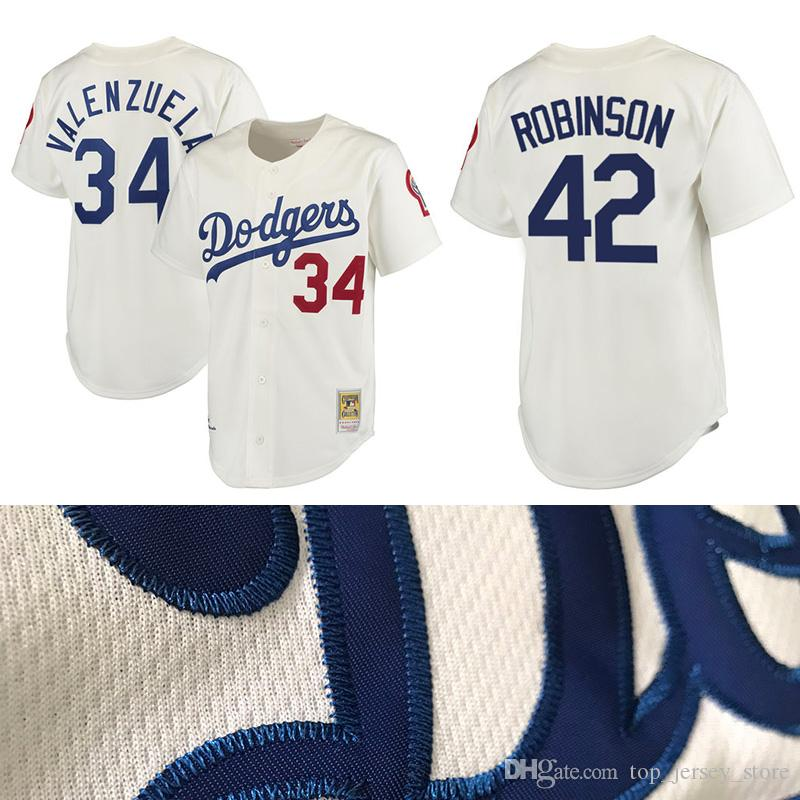 85e4f7bef new zealand mitchell and ness 1955 dodgers 34 fernando valenzuela white  throwback stitched mlb jersey 68c57 4e493