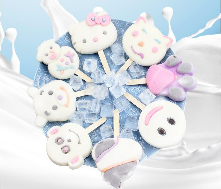 9 Style Designs Silicone Ice Cream Molds Frozen Ice Popsicles Moulds DIY Cartoon Ice Cream Maker