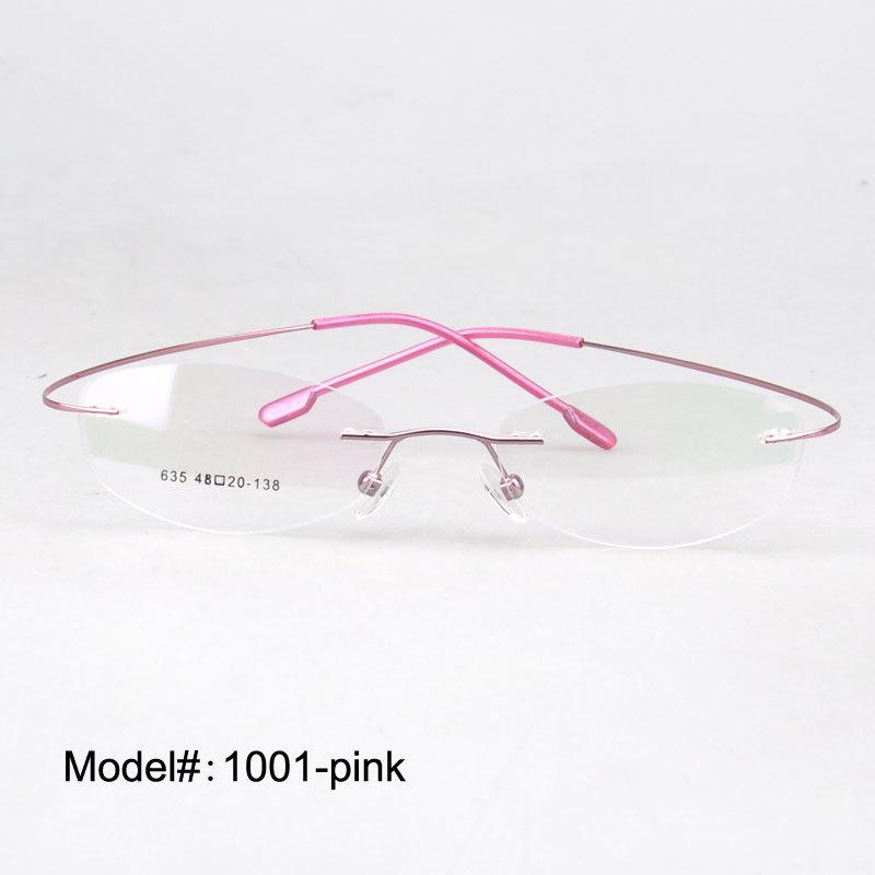 dd8e352858b Wholesale 1001 Rimless Hingless Fashion Memory Titanium Eyeglasses Eyewear  RX Optical Frames UK 2019 From Value111