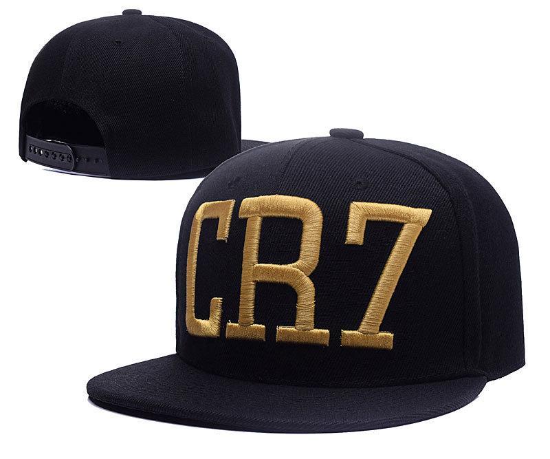48ea7012613 New 2017 Cristiano Ronaldo CR7 Gold Letter Black Baseball Caps Hip Hop  Sports Snapback Cap Hat Chapeu De Sol Bone Men Hats For Men Hatland From  Angela90