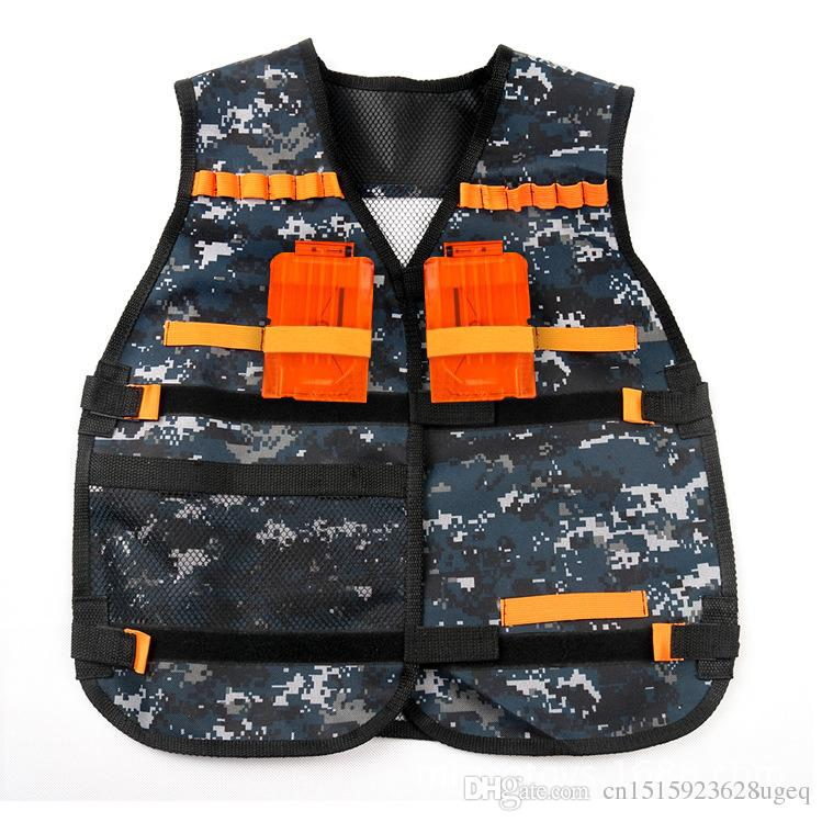 EFHH Tactical Vest Kids Toy Gun Clip Jacket Foam Bullet Ammunition Holder