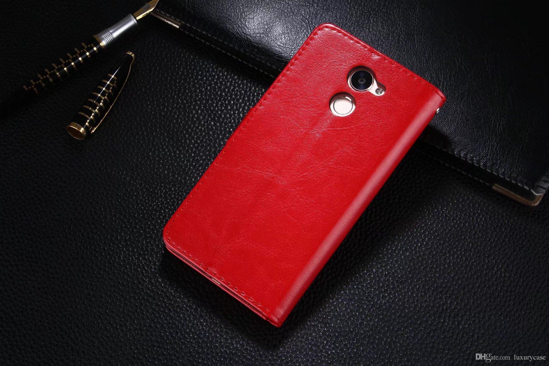Custodia in pelle di lusso Huawei Enjoy 7 Plus Custodia rigida Huawei Ascend Enjoy 7 Plus