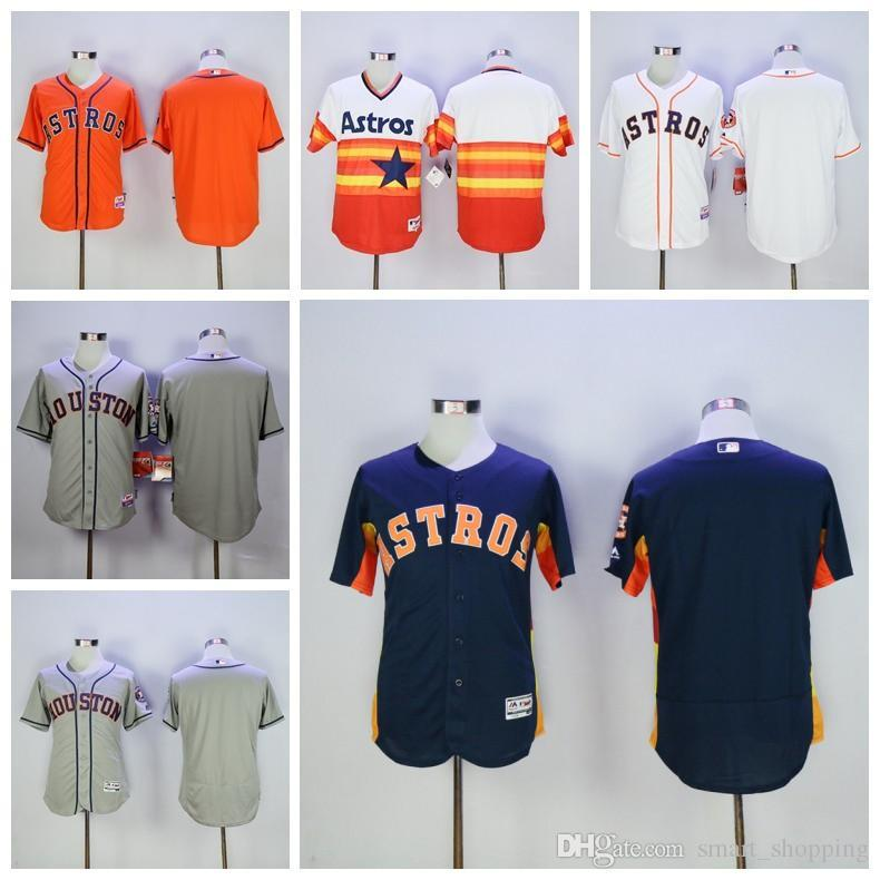 ca360b5d1 ... Houston Astros Jersey Throwback Stitched Personalized Baseball Blank Astros  Jerseys Any Name And Number White Grey ...