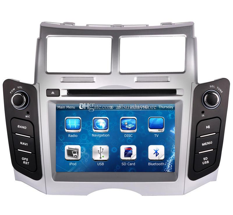 Car DVD Player for Toyota Yaris 2005-2011 with GPS Navigation Radio TV Bluetooth USB SD AUX Map Auto Audio Video Stereo Sat Nav