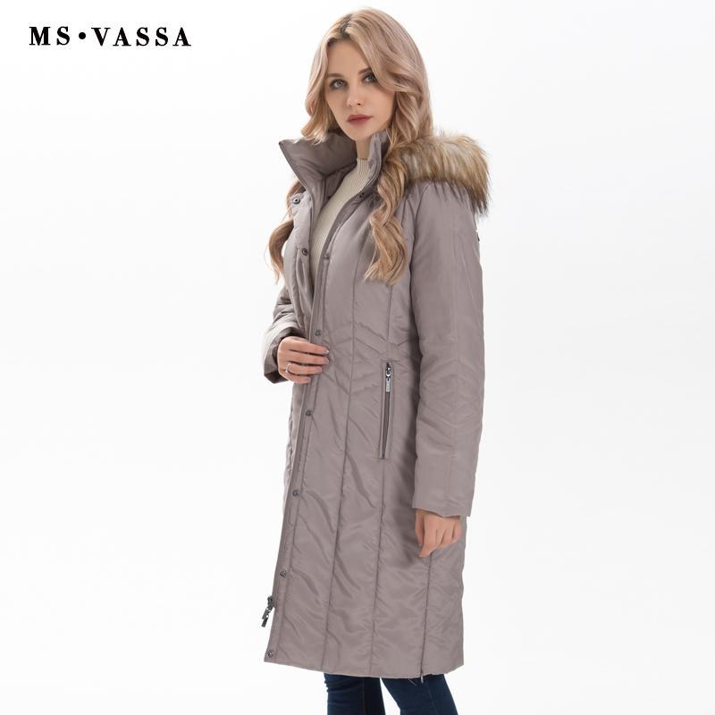 0f1d4ad26f7 Wholesale-MS VASSA Winter Parkas Women 2017 New Fashion Autumn ...
