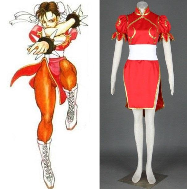 Street fighter chunli cosplay red outfit womens halloween costumes simple anime cosplay costumes cosplay costumes for sale men from hosiyoubi