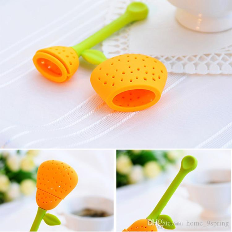 Cute Silicone Tea Infuser Strainer Creative Pear Shape Tea Bag Filter for Loose Leaf Herb Infuser Tea Tools Accessories