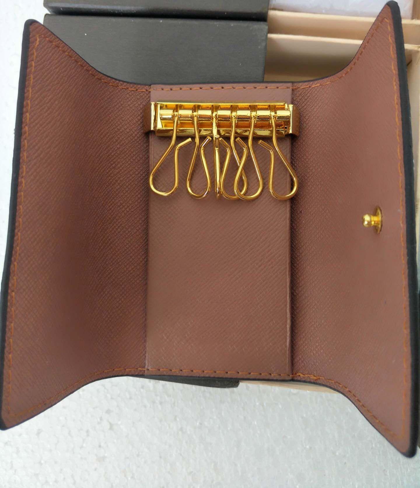 KEY POUCH Damier Canvas Holds High Quality Famous Classical Designer Women  6 Key Holder Coin Purse Leather Men Card Holders Wallet Handbag Key Wallet  Purse ... 60a42bd6963