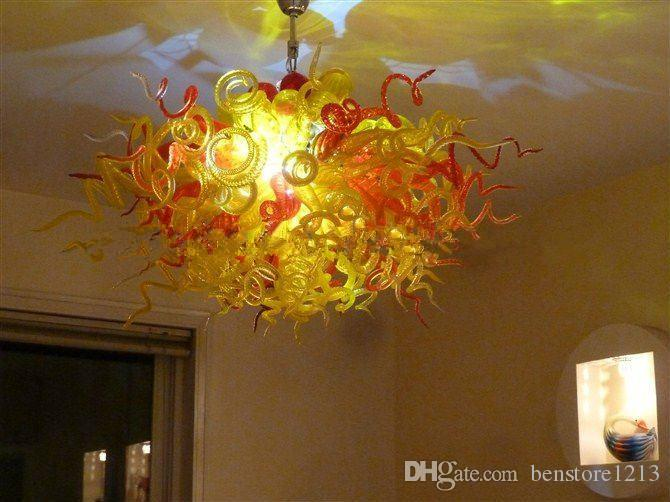 New Arrival Living Room Lights Antique Style Chandelier LED Light Source European Italian Style Hand Blown Glass Chandelier