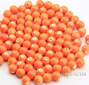 8mm Porcelain Beads, solid color,DIY accessories ceramic loose beads,round shape,sold bag of