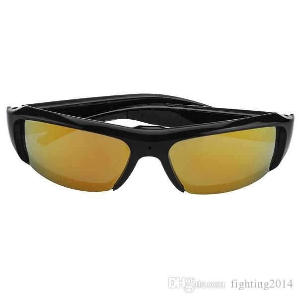 Full HD 1080 P cámara gafas de sol Mini DVR gafas de sol cámara Audio Video Recorder Bolon Style gafas de sol DVR negro lente oro gafas cámara