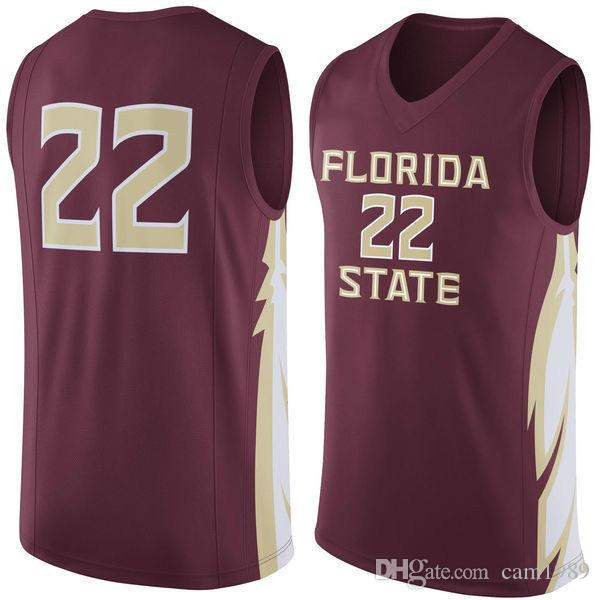 2018 no.22 florida state seminoles men college basketball jersey unf embroidery athletic outdoor app