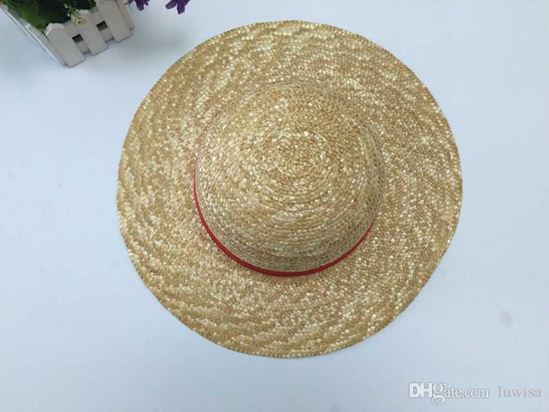 Cosplay Japanese cartoon props hat Luffy strawhat one piece hat children/adult Straw Hat Visor Wide Brim Hats