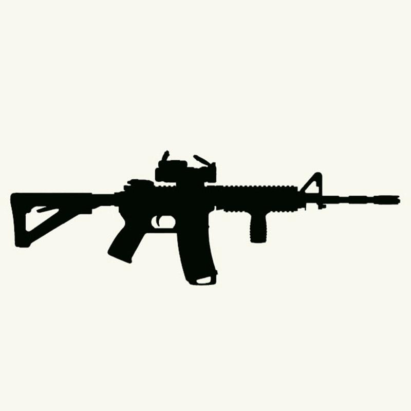 8bc440b33d29bc 2019 Machine Gun MP5 Assault Rifle Styling Car Sticker For Truck Bumper  Army Shop Auto Door Laptop Motorcycle Sport Utility Vehicle JDM From  Langru1001