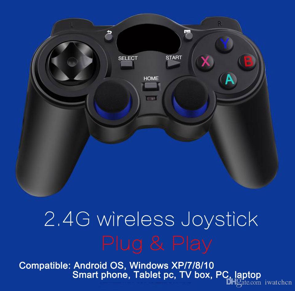 2.4G Sem Fio Controlador de Jogo Gamepad Joystick mini teclado remoter para caixa de TV universal e Smartphone GR1 w / suporte de telefone