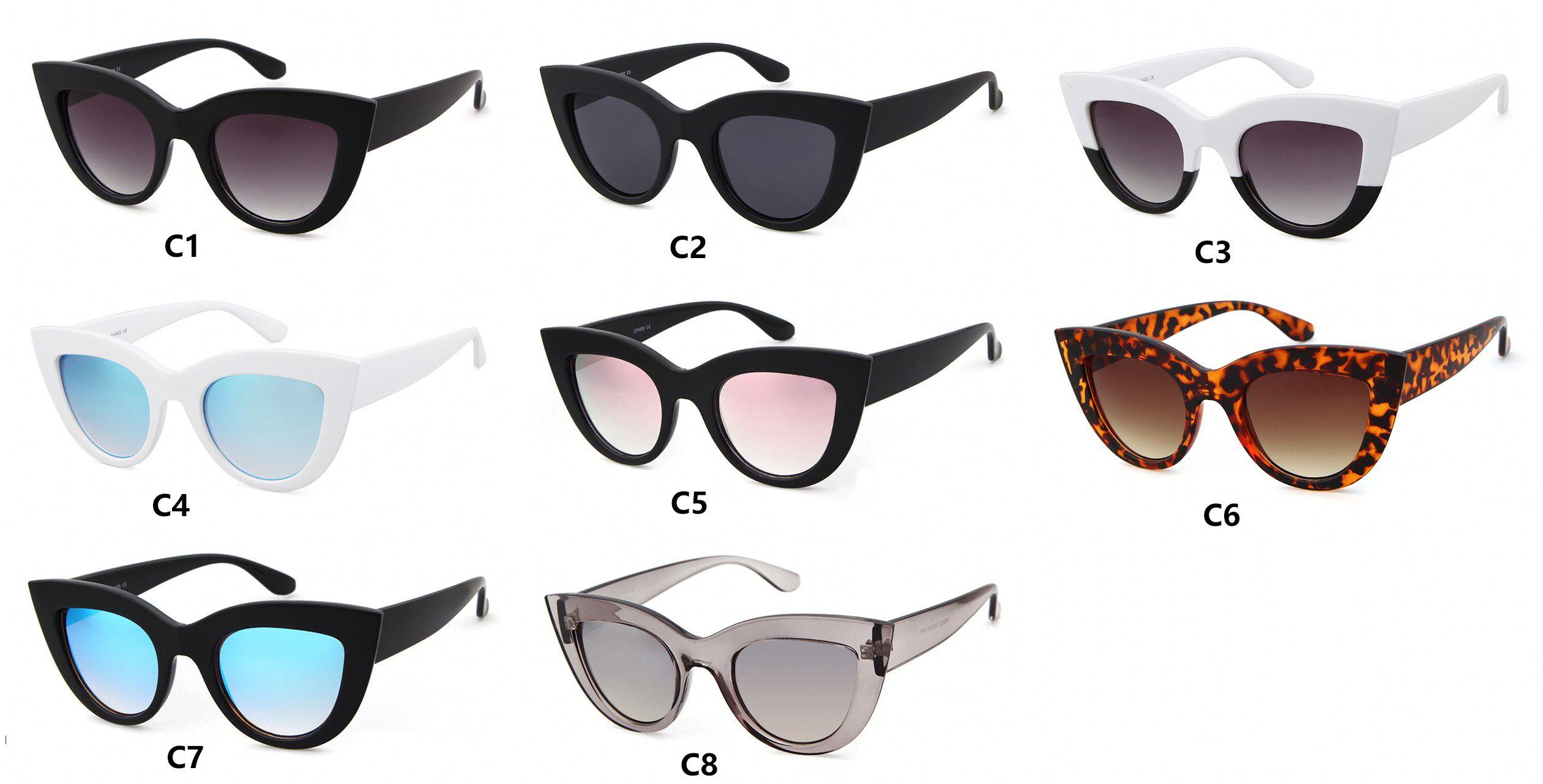 Mat siyah kedi gözü pembe güneş gözlüğü kadın popüler marka ayna kaplama gül altın asetat çerçeve güneş gözlüğü tasarım 2017 moda shades gafas
