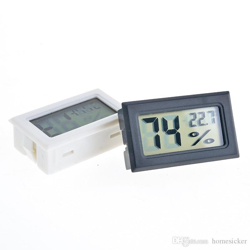 2017 neue schwarz / weiß FY-11 Mini Digital LCD Umwelt Thermometer Hygrometer Luftfeuchtigkeit Temperatur Meter Im kühlschrank kühlschrank