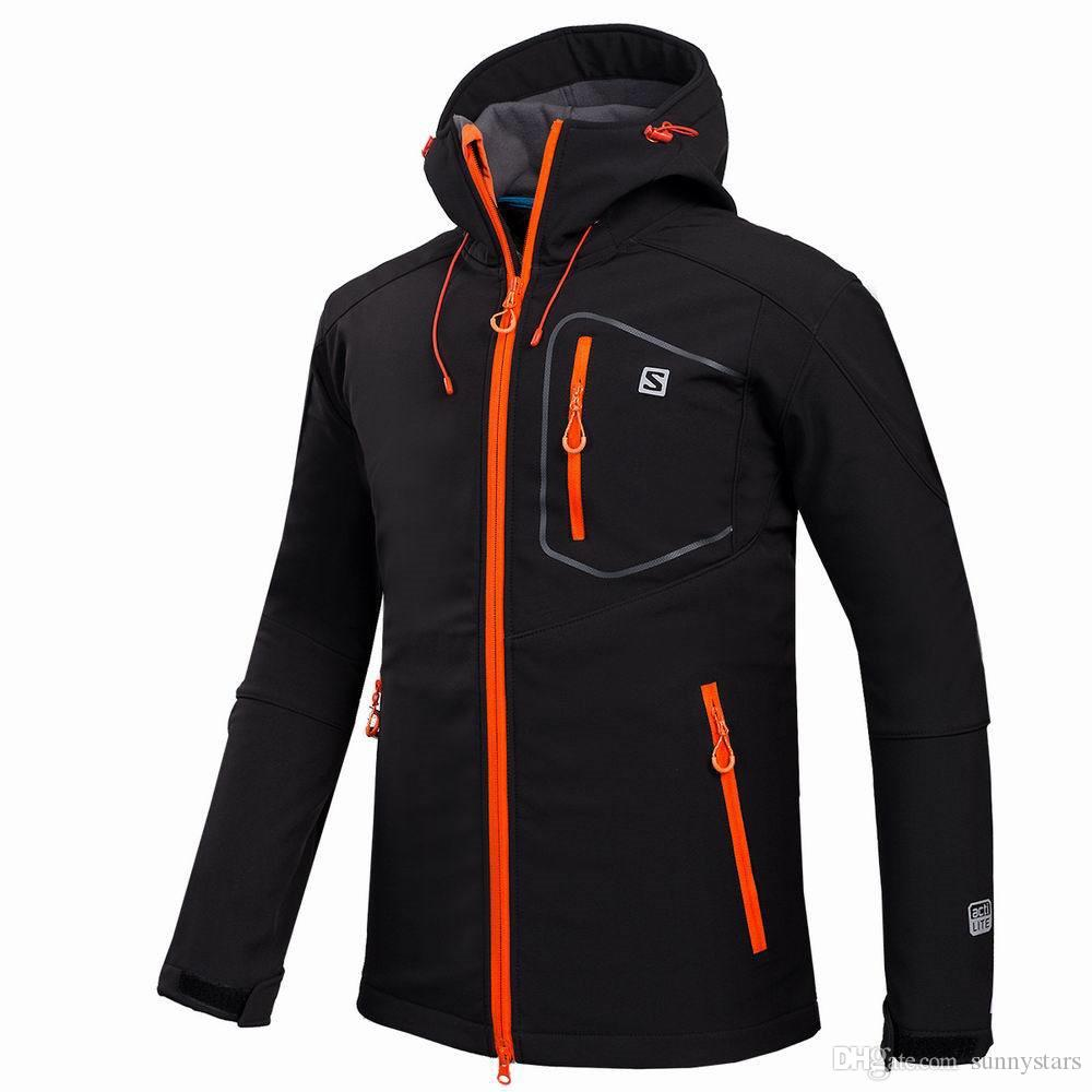 Wholesale-Outdoor Shell Jacket Winter Brand Hiking Softshell Jacket Men Windproof Waterproof Thermal For Hiking Camping
