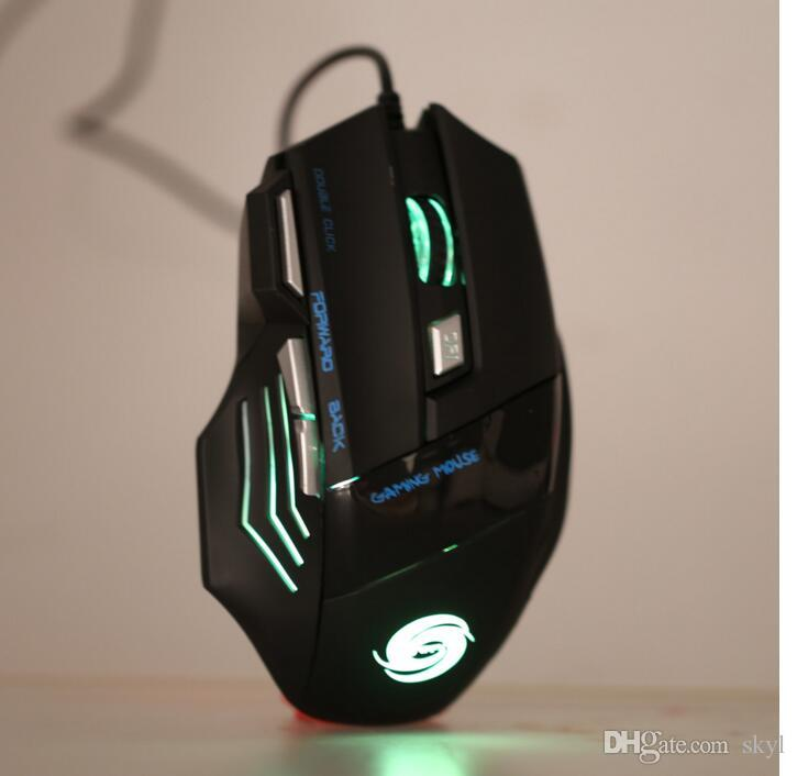 Professional Gaming Mouse 3200 DPI 7 Buttons 7D LED Optical USB Wired Mouse Mice for Laptop PC New Arrivel