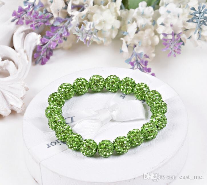 Good A++ Fashion 20 crystal diamond ball bracelet beads diy handmade jewelry FB292 a Charm Bracelets