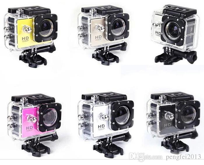 DHL 2.0 Inch LCD Screen 1080P 12MP Full HD Action Camera 30M Waterproof Camcorders Helmet Extreme Sport DV Car DVR