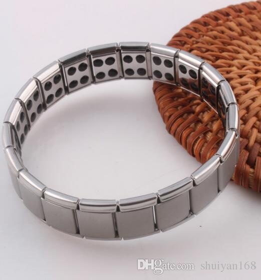 Germanium stones titanium edelstahl armband gesundheitswesen armband zubehör magnetische heißer verkauf schmuck versandkostenfrei