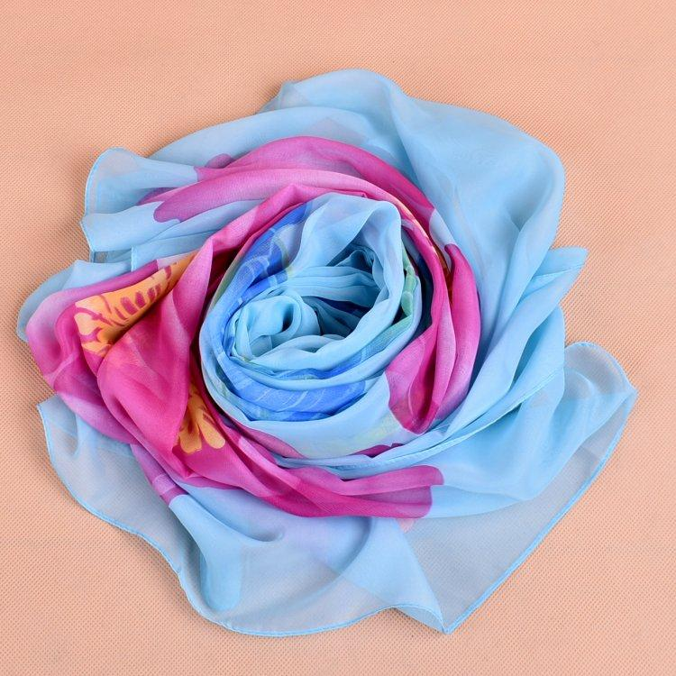 New arrival oversized flower pashmina wraps chiffon scarves large size of silk scarves beach towel factory direct sale