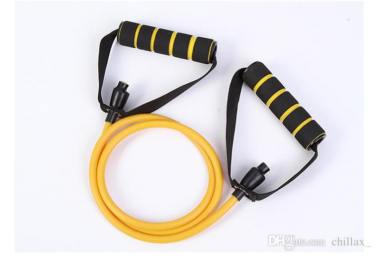 Alta calidad 140cm Bandas de resistencia de ejercicio Tubos de ejercicio Elástico Cuerda de entrenamiento Yoga Pilates Equipo de deporte Una cuerda es suficiente para la aptitud