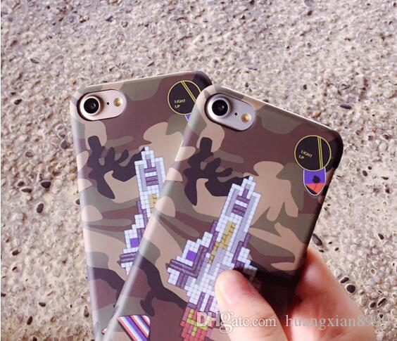 Para iphone 7 marca quente foguete militar camuflagem mobile phone shell case para 7 phone cases para iphone7 fosco escudo rígido
