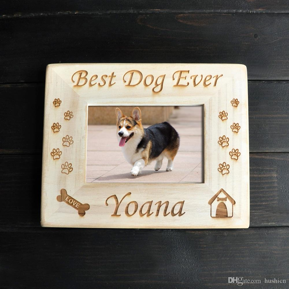 Personalized Pet Memorial Picture Frame Retro White Photo Frame for ...
