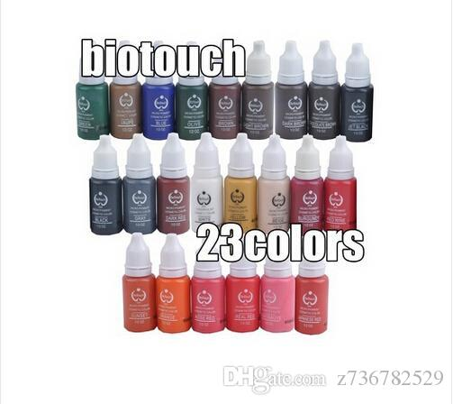 Wholesale Biotouch Tattoo Ink Set Pigments Permanent Makeup 15ml