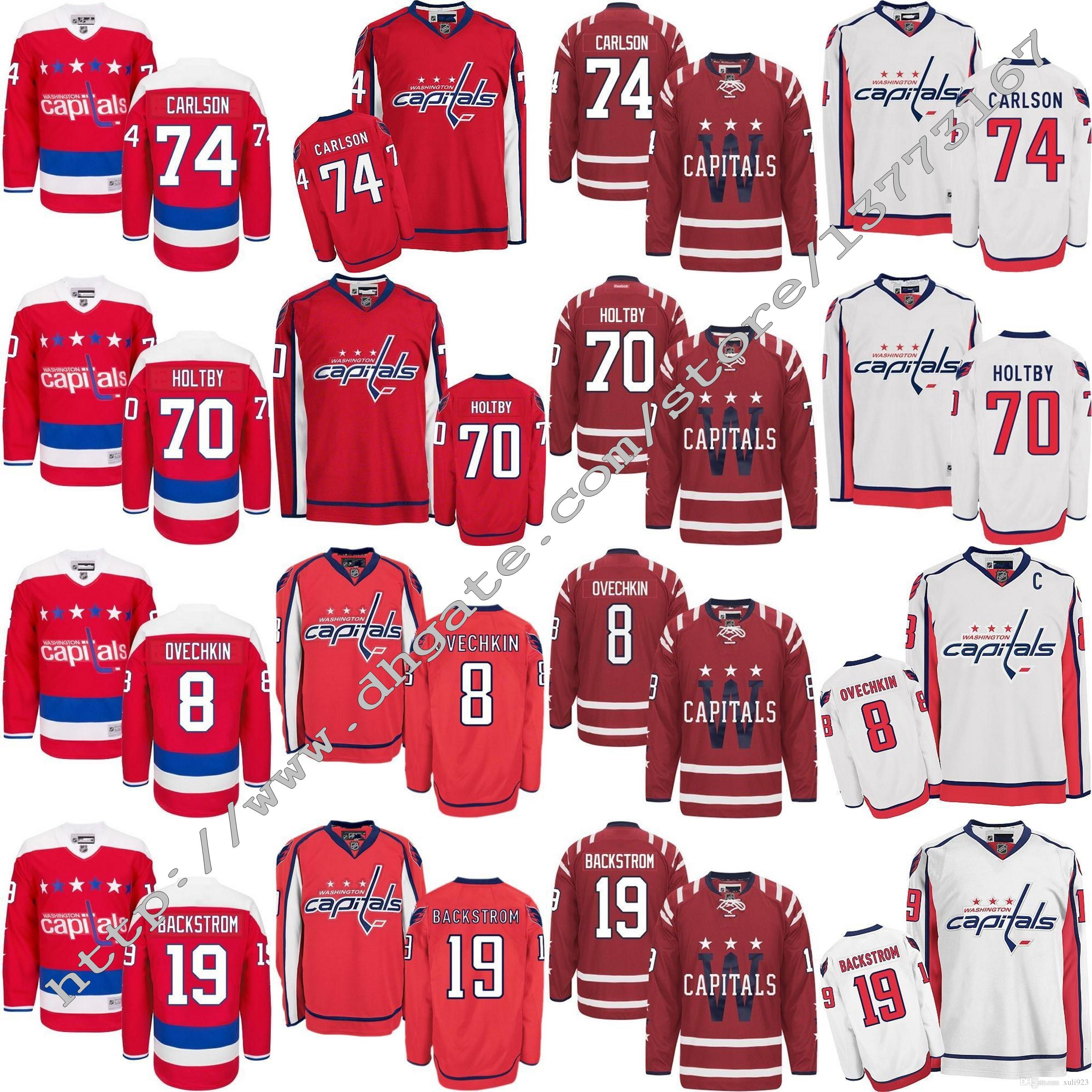 Mens 2017 Washington Capitals Ice Hockey 8 Alex Ovechkin 19 Nicklas ... 9c7b3a5a9961