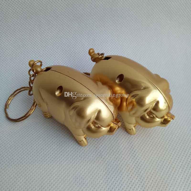 Belle Cutie Mini Cochon D'or Animal Style Décor À La Maison Cigare Cigarette Butane À Gaz Briquet Portable également offrir USB ARC Torch Jet Briquets