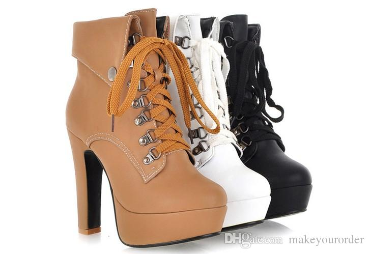 wholesaler new style factory price hot seller ankle women high heel platform Martin women lady boot 273