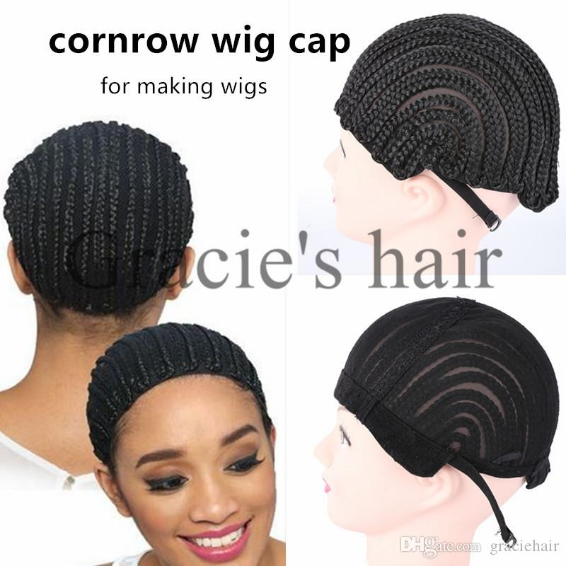 Cornrow wig caps cornrow braided cap for making wigs easier sew cornrow wig caps cornrow braided cap for making wigs easier sew weft in making wigs adjustable black color crochet braided weaving cap lace lace cap for wig pmusecretfo Images