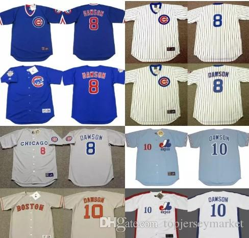 ... 2017 8 Andre Dawson Cooperstown Throwback Jerseys Chicago Cubs 1987  1989 1990 Boston Red Sox 1993 ... b8c398f25