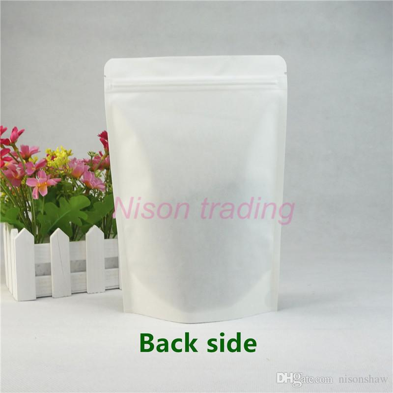 22*32cm medicine pill pack bags, stand up White Kraft paper bag with Matte transparent window, storage cotton doypack