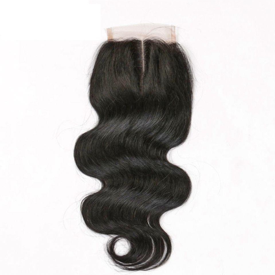 Paquetes brasileño del pelo con cierre 8-30inch doble trama del pelo humano extensiones Dyeable Virgen de Remy de la armadura del pelo del cuerpo onda ondulado