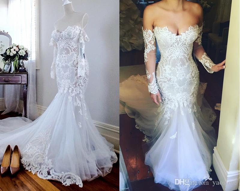 Großhandel New White Gorgeous Appliqued Brautkleider Schatz Sleeves ...