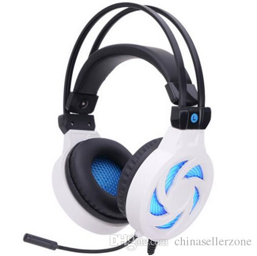 c194fac5afa Gaming Headset Gamer Stereo Headphones Headband Earphones With Microphones  LED Light Wire Control For PC Desktop Headphone Splitter In Ear Monitors  From ...