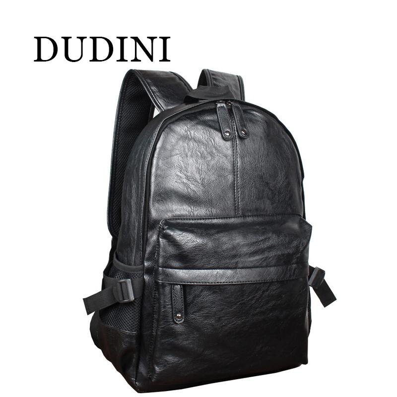 2627b691269 Wholesale DUDINI Fashion Korean Style Men Backpack Top Quality Leather  Double Shoulder Bags School Bag Book Rucksack Male Outstoor Tote Kelty  Backpack Camo ...