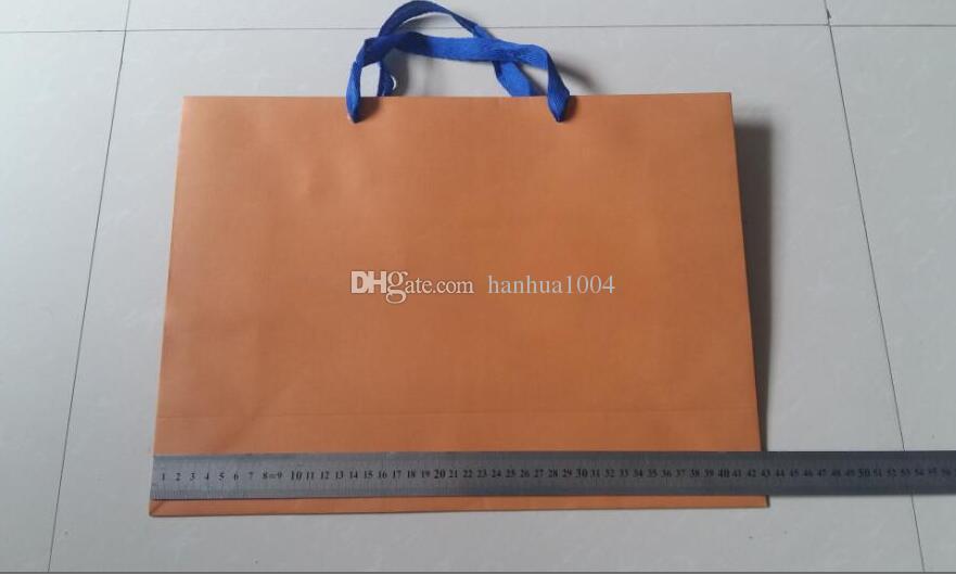 도매 새로운 포장 종이 쇼핑 선물 가방 주황색 43cm