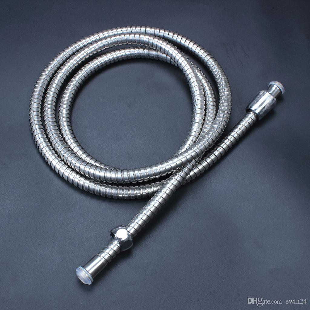 2 m flessibile in acciaio inossidabile cromato standard tubo flessibile soffione doccia tubo bagno tubi acqua tubo nuovo marchio popolare