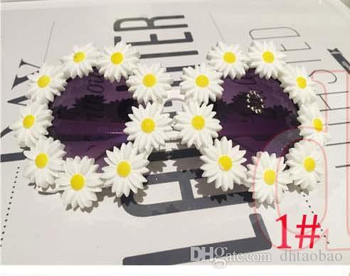 Moq = 10 unids Nuevo Verano Hermosas Mujeres Lindas Moda Seaside Exquisito Viaje Flores Gafas de Sol Beach Glasses UV400 es Envío Gratis