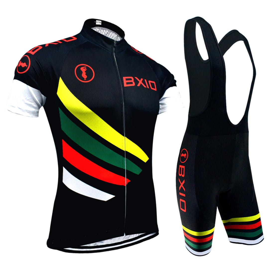 BXIO MTB Cycling Jersey Sets Black Series Bikes Clothes Hot Summer  Recommend Cycle Clothing Can Be Choose Bibs Or No Bibs Set BX 108 Mountain Bike  Gear ... f0e57755b