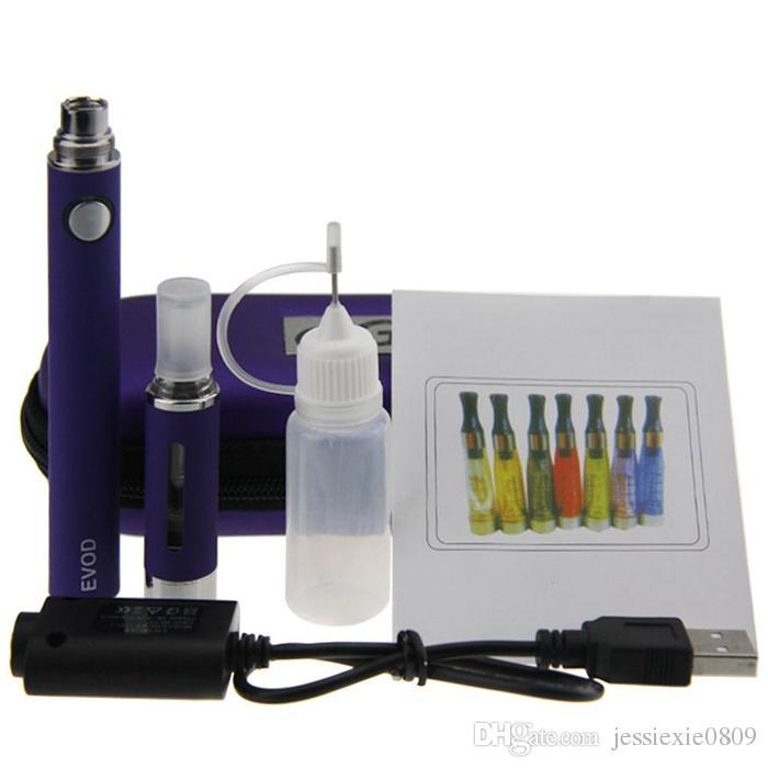 EVOD MT3 Starter Kit Electronic cigarette Zipper case single kit with EVOD battery 650mah 900mah 1100mah MT3 atomizer vaporizer cartridge