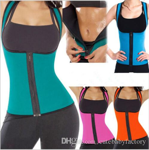 1695864eb53 Black Blue Slimming Redu Thermo Cami Hot Slim Belt Neoprene Shaper ...
