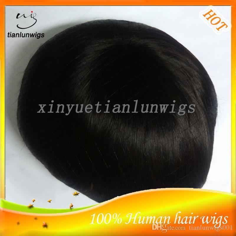 Highlighted Color #1B/27 Virgin Human Hair Men's Toupee Hair Piece For Men Indian Natural Straight Hair Men's System Accept Custom Order