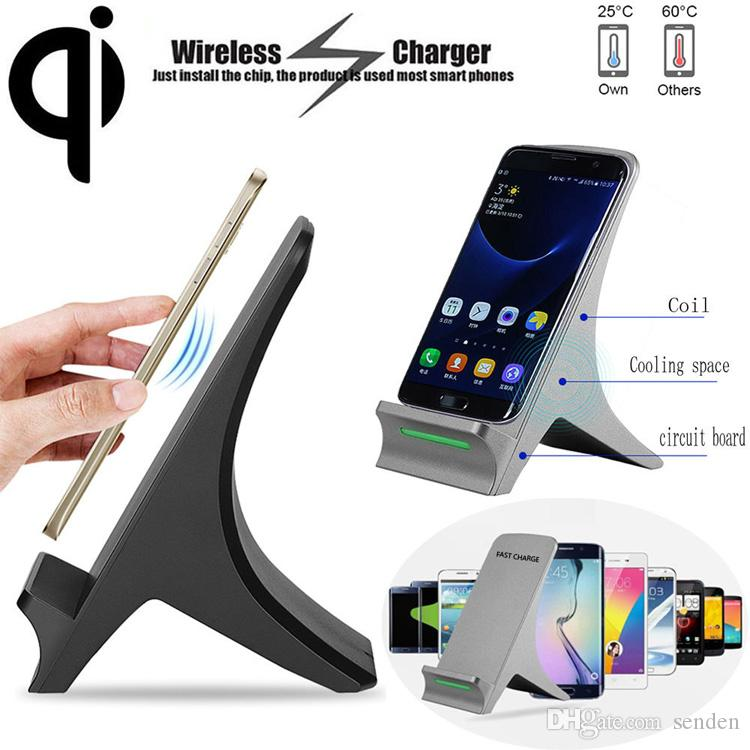Eiffel Tower Fast Wireless Charging 2 Coils Qi Charge Dock Phone Stand Q550  Inductive Wireless Charger Transmitter Holder for QI Smartphones