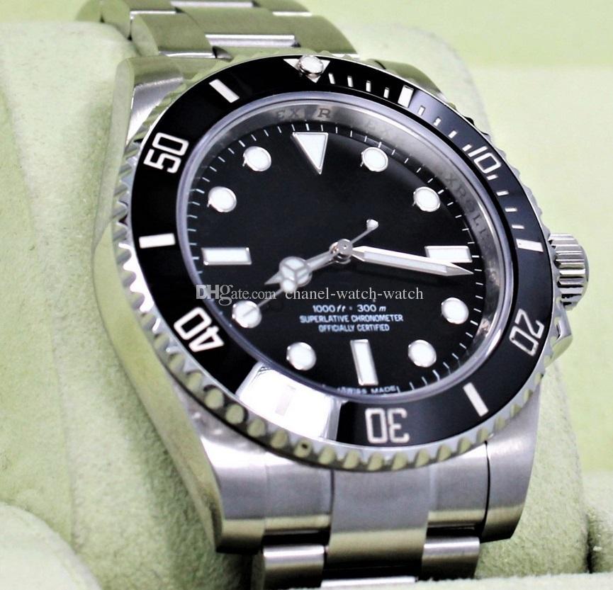 a1c9a87a9f2 Compre Luxo Venda Quente 114060 Aço Inoxidável Mostrador Preto Cerâmica  Bezel 40mm Relógio Automático Dos Homens Relógios De Pulso Dos Homens De  Chanel ...